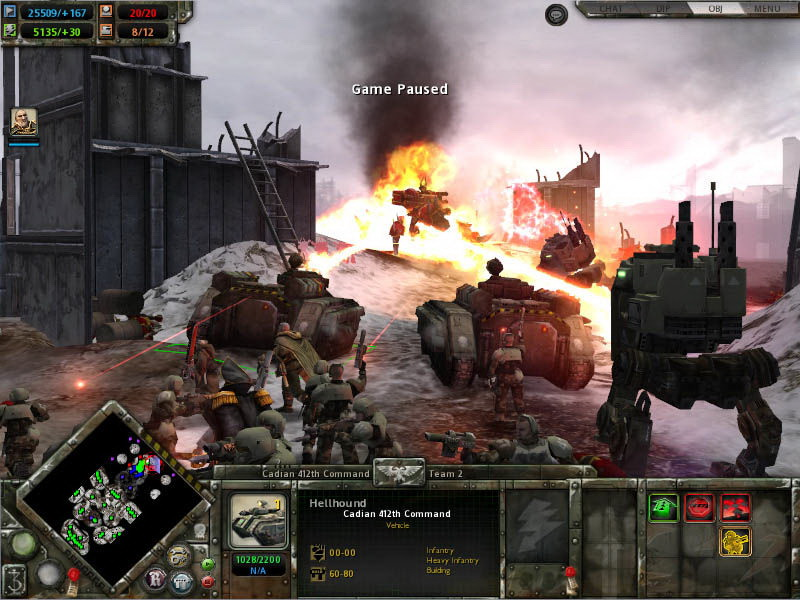 Скриншот N110792 из игры Warhammer 40,000: Dawn of War - Winter Assault (2005)