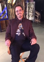 "Тони Старк дал интервью Питеру Паркеру на съемках ""Мстителей 3"""