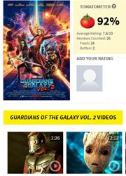 """Фильм """"Стражи Галактики 2"""" получил высокие оценки критиков"""