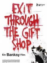 """Постер к документальному фильму """"Выход через сувенирную лавку"""""""
