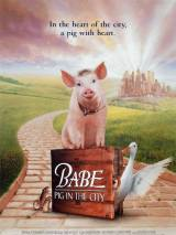 """Постер к фильму """"Бэйб: Поросенок в городе"""""""