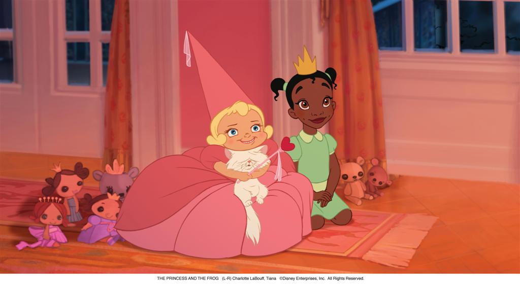 Мультфильм принцесса поцелуи лягушка зелёная — векторное.