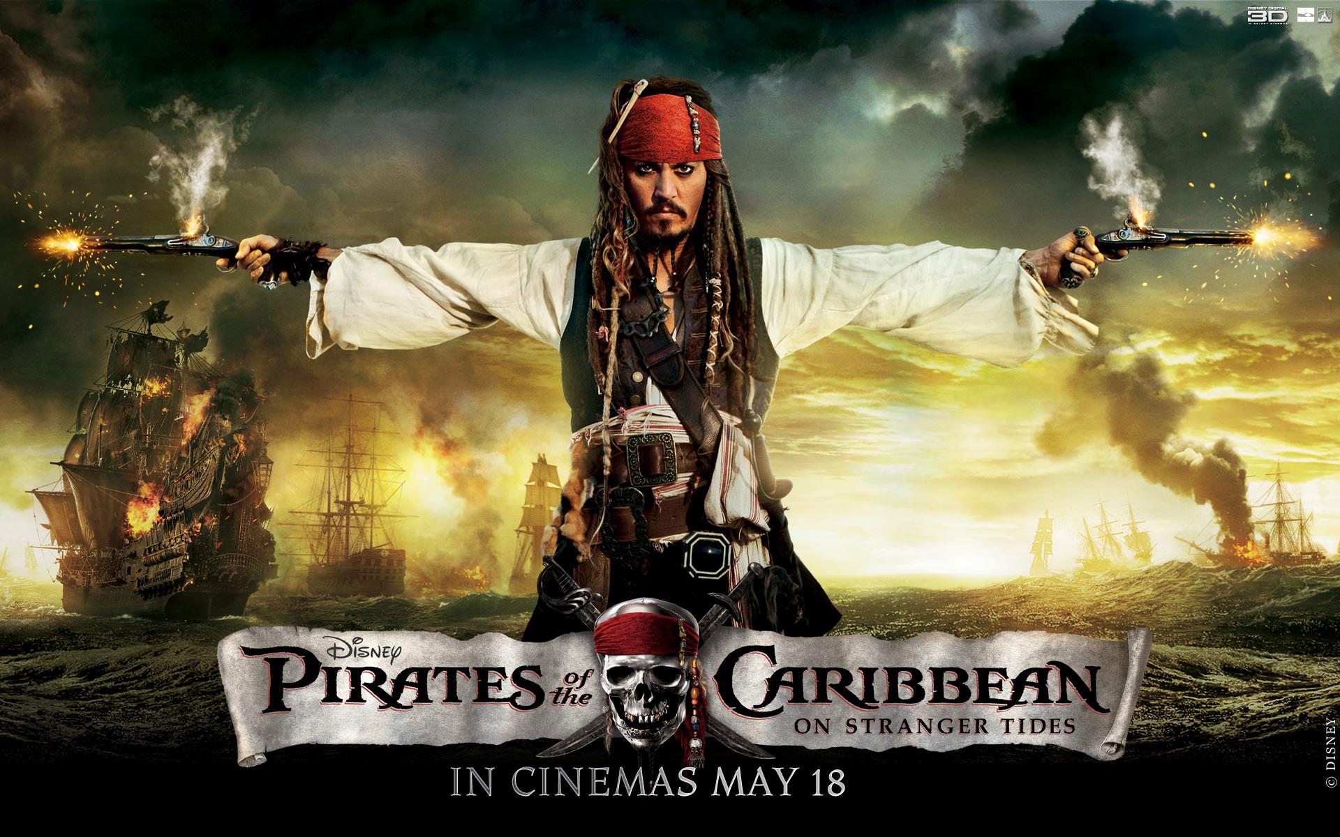 Обои к фильму пираты карибского моря 4